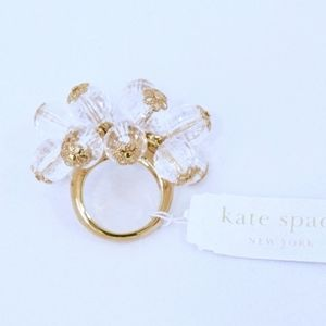KATE SPADE~gumdrop cluster~RING~CLEAR/GOLD~NWT